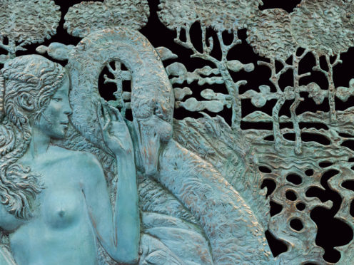Tenderness (Leda and the Swan). Relief