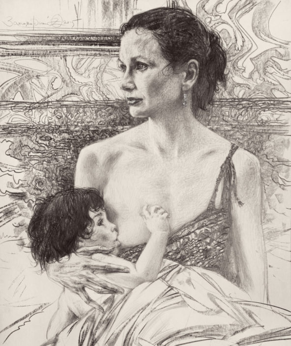 Олег Закоморный. Мать и дитя. Кормление