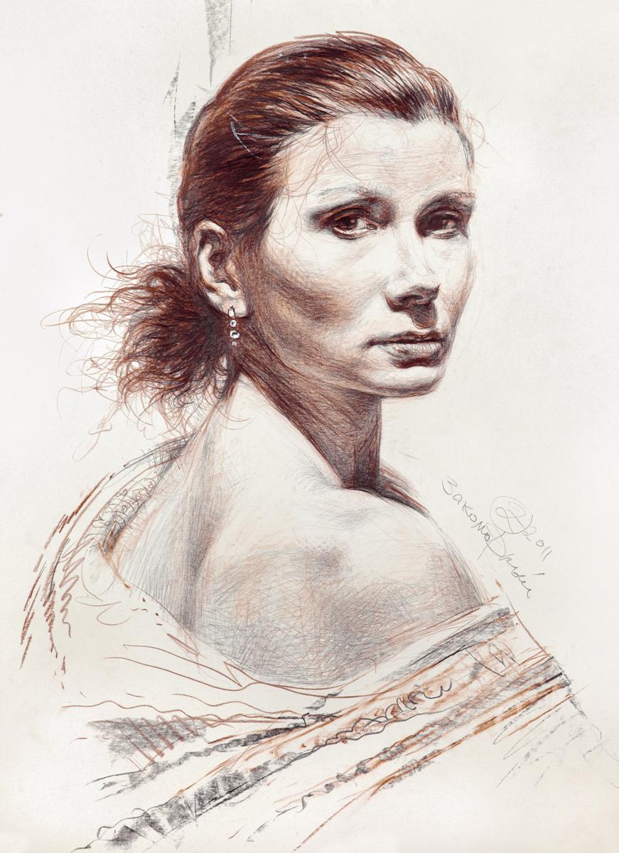 Олег Закоморный. Портрет жены художника
