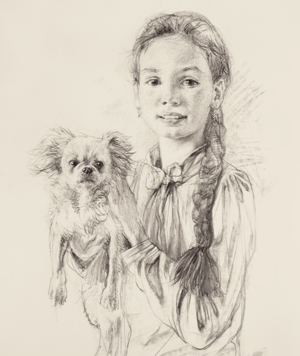 Sonia with a Dog