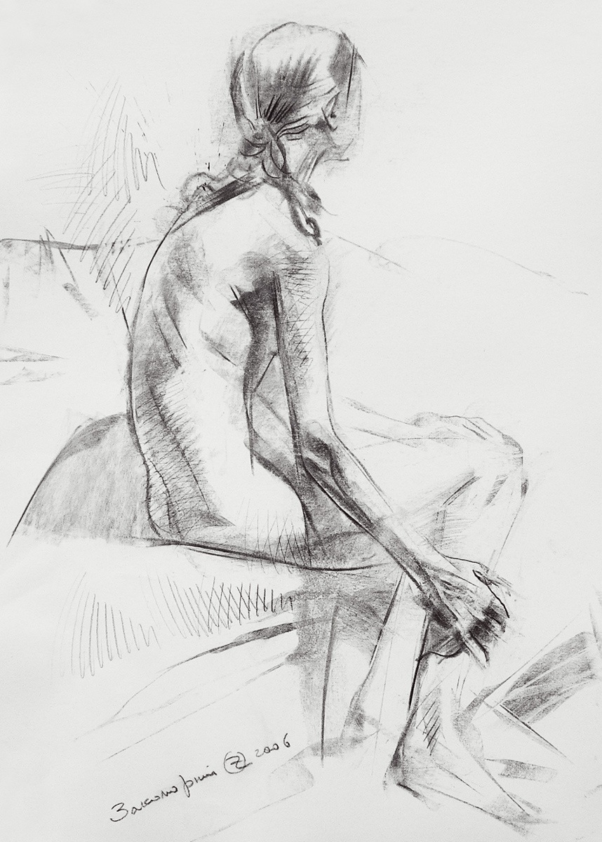 Sketch of a Female Figure from the Back
