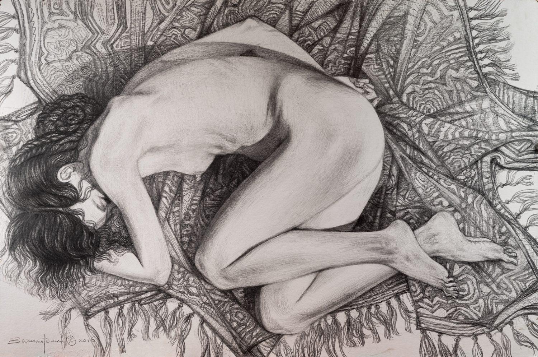 Олег Закаморный. Спящая на ковре