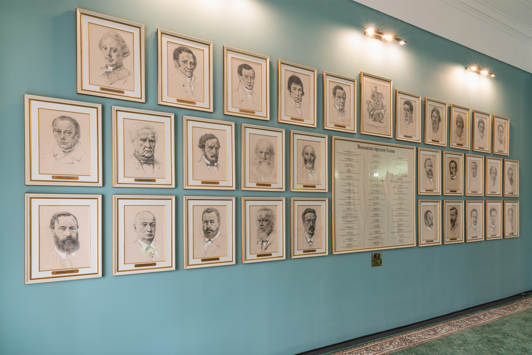 Oleg Zakomorny. The gallery of graphic portraits of Moscow Mayors at the Moscow City Duma