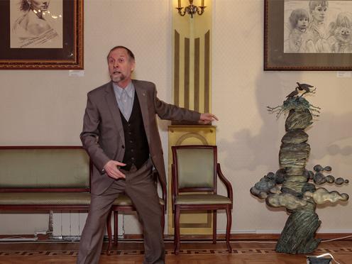Открытие выставки Олега Закоморного в Гоголевском музее, 2018.02.17