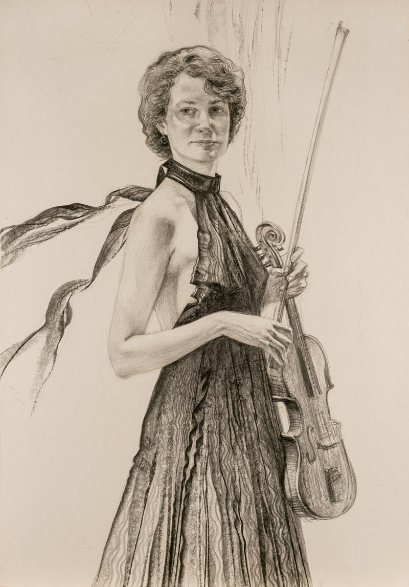 Oleg Zakomorny. Anna Yanovskaya's portrait; 2017
