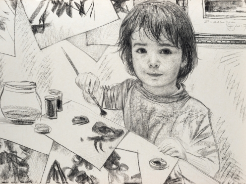 Олег Закоморный. Савва рисует. 2017