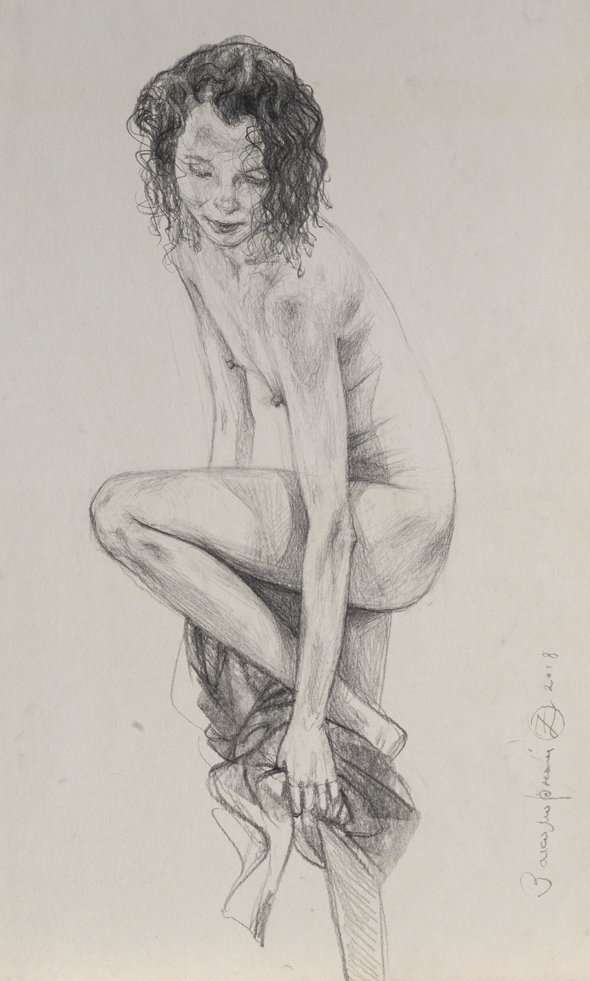Oleg Zakomorny, Sketches, series Bather, 2018