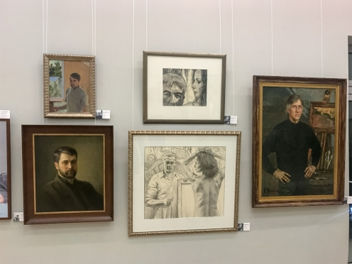 Графические работы Олега Закоморного на выставке «Автопортрет в ЦДА»