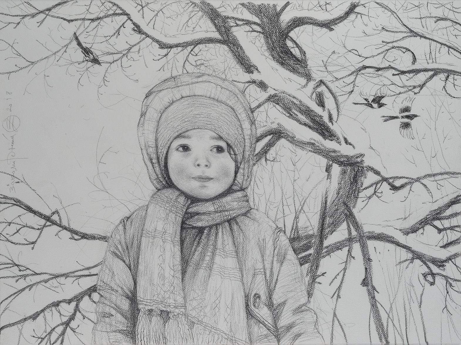 Олег Закоморный. Савва в зимнем парке. 2018
