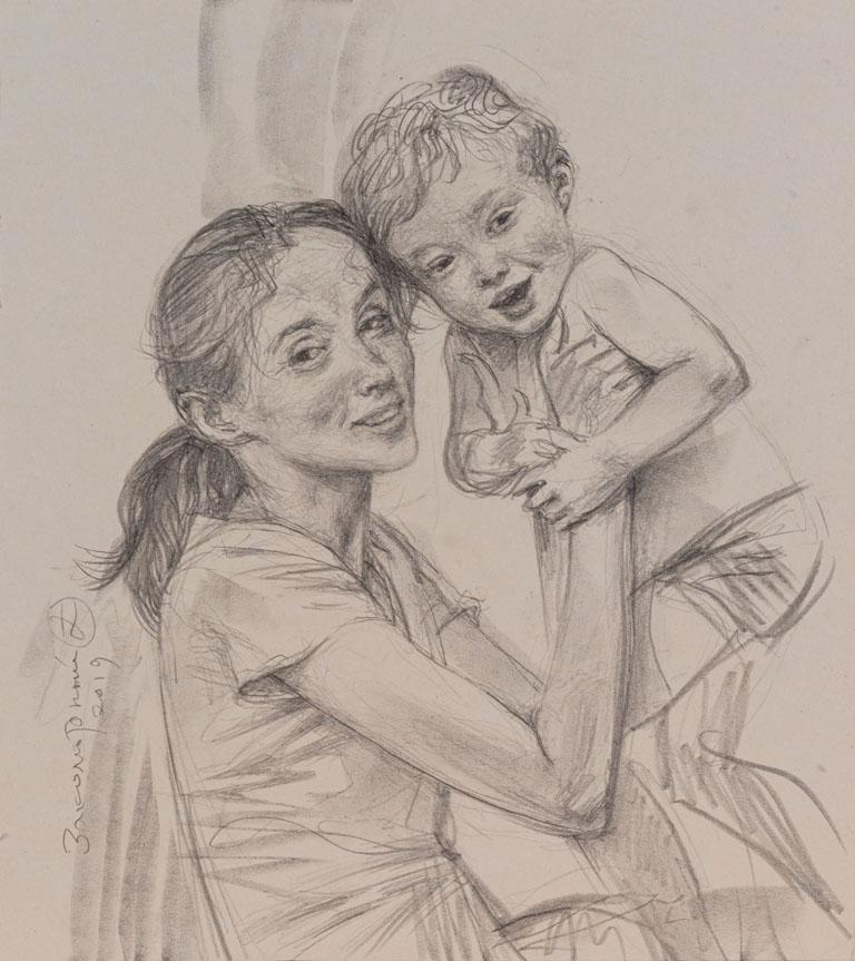 Олег Закоморный. Мама и малыш. 2019